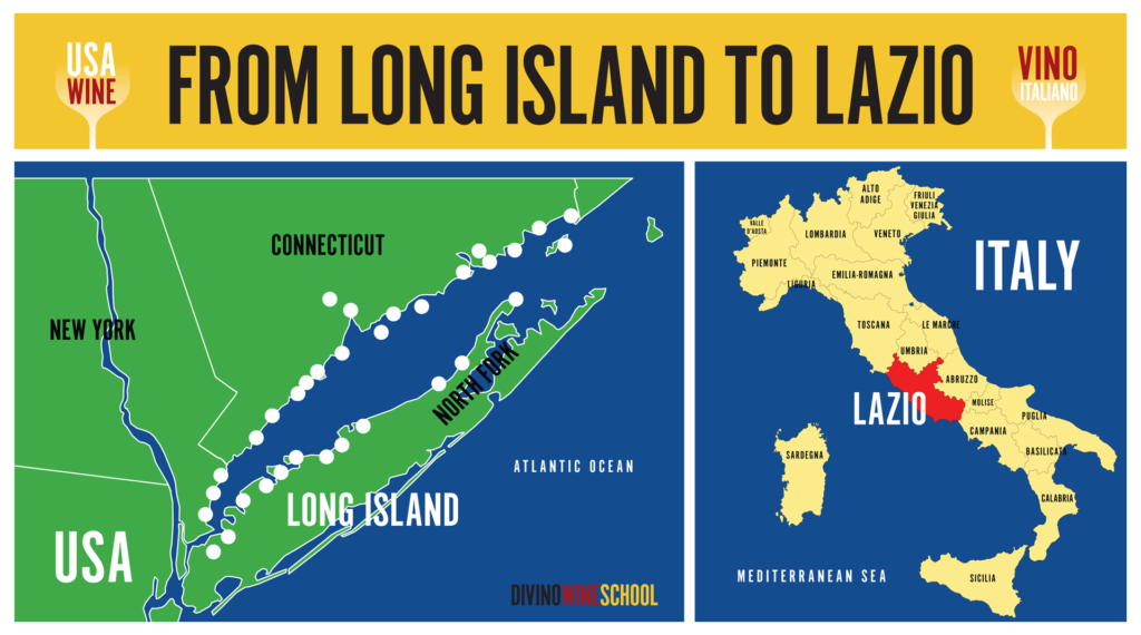 LONG ISLAND WINE MAP